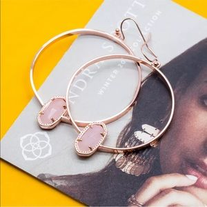Kendra Scott Rose Gold Elora Hoop Earrings